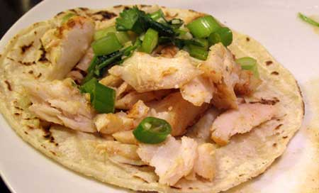 PopBetty - Fish Tacos with Green Salsa