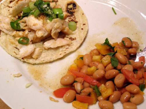 PopBetty - Spicy Fish Tacos with Bean Salsa
