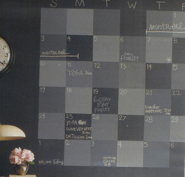 Martha Stewart Chalkboard Calendar