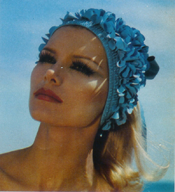 Vintage Floral Swim Cap in L'Officiel