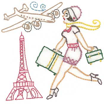 Sublime Stitching's Bon Voyage Embroidery Pattern Kit
