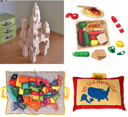 Fantasy Building Blocks, U.S. Map Puzzle, Cutting Food Set