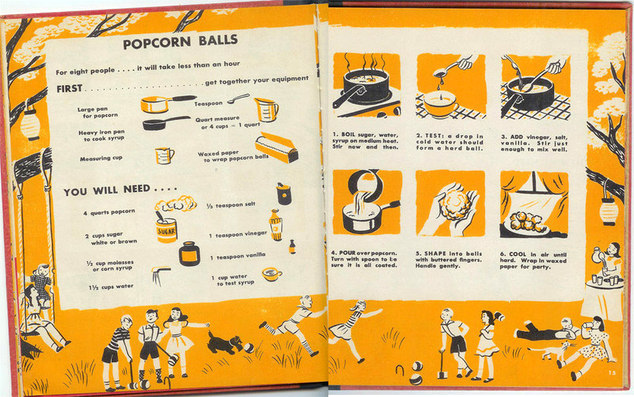 Children's Picture Cookbook - Popcorn Balls