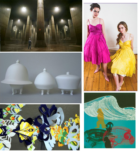 Subterranean Tunnels, Anthropomorphic Serving Dishes, Parachute Dresses