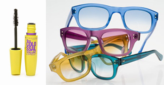 Colossal Mascara and Pastel Glasses Frames