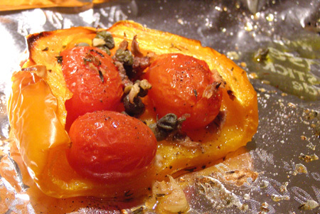 PopBetty-Roasted Peppers with Tomatoes and Anchovies
