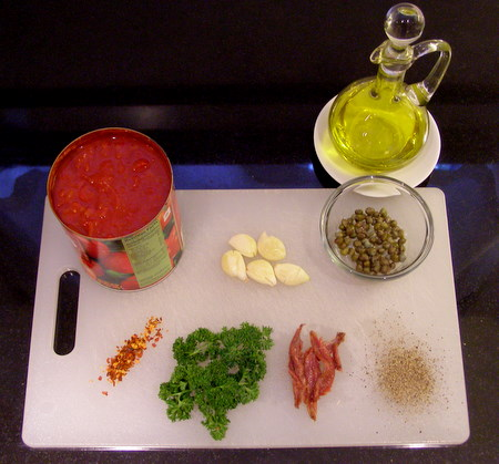 Pasta Puttanesca Ingredients