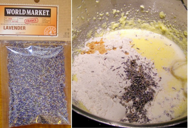 Lavender Pound Cake Ingredients