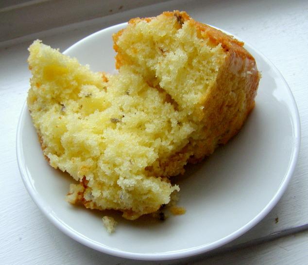Lavender Pound Cake Slice