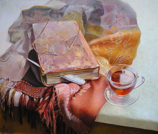 Literary Still Life by Peter Kozlov