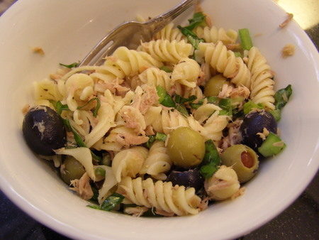Tuna Pasta Salad with Olives