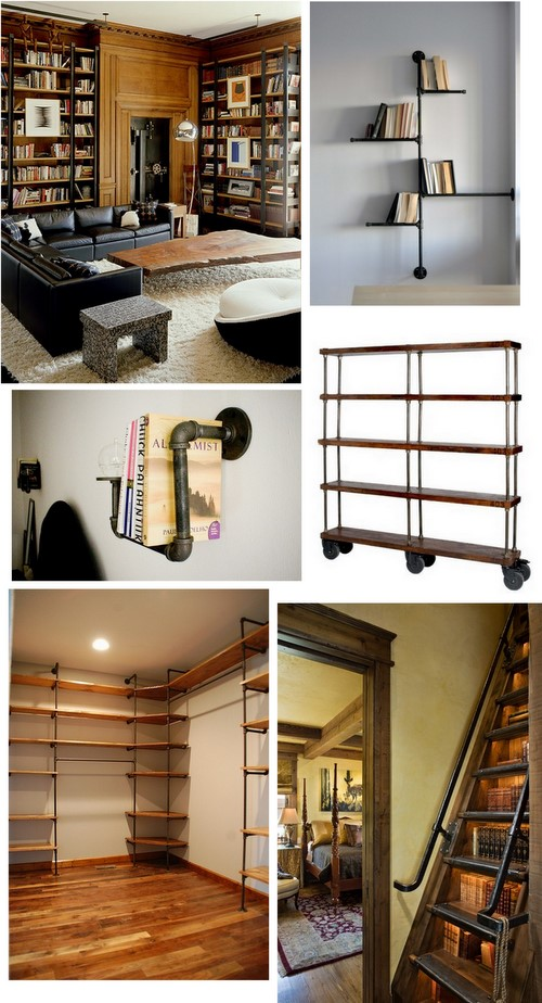 PopBetty - Industrial Bookshelf Inspiration