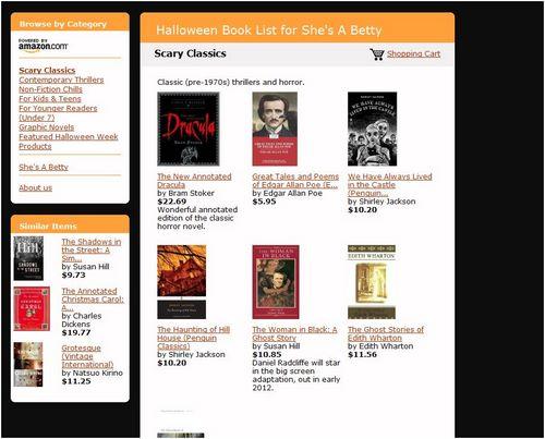PopBetty Halloween Books aStore