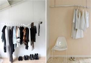d i y idea tree branch hanging rod popbetty. Black Bedroom Furniture Sets. Home Design Ideas