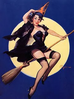 Vintage Halloween Witch by Gil Elvgren