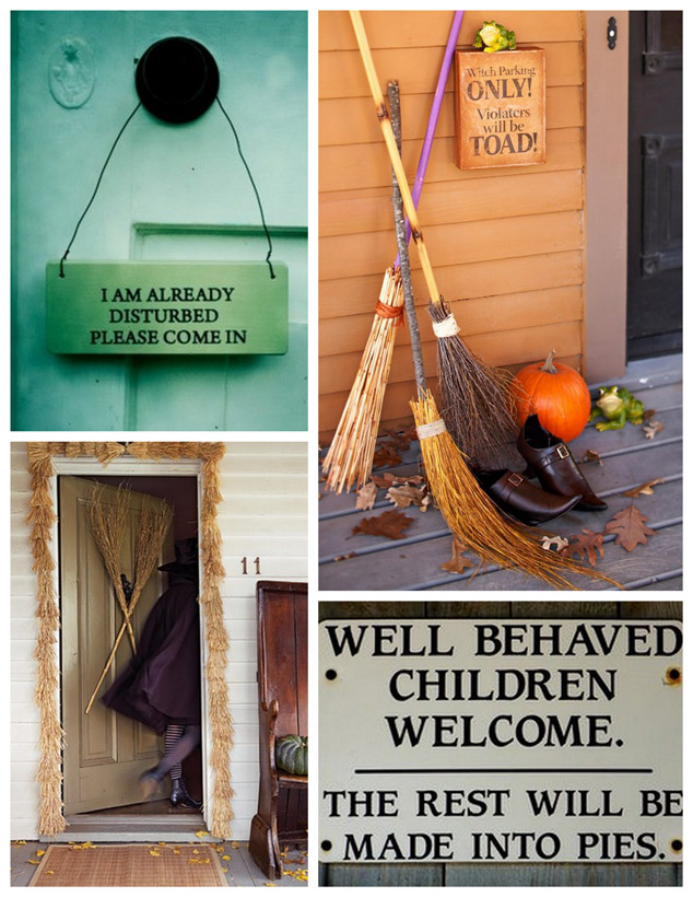 Witch Party Brooms and Sign Ideas | Popbetty