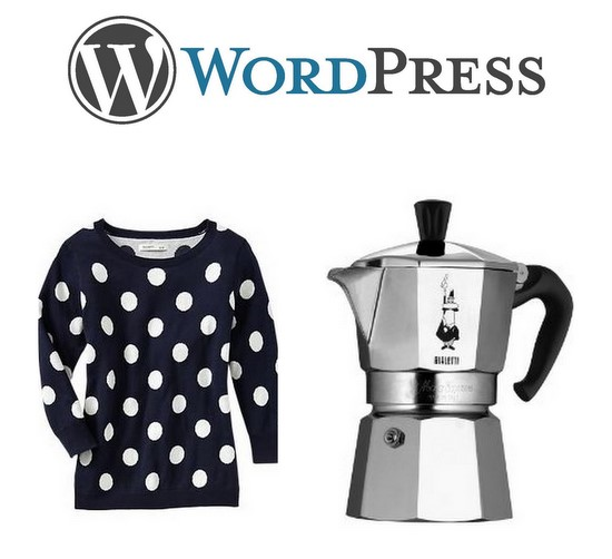 Wordpress, Polka Dots and Bialetti Moka Pot