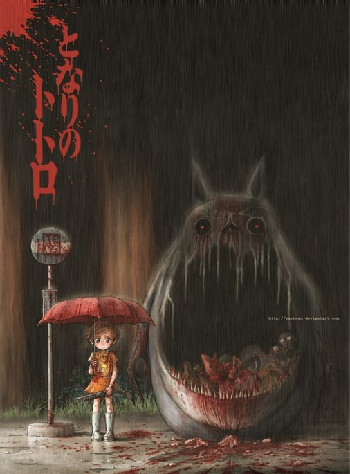 Scary Totoro by Sachsen