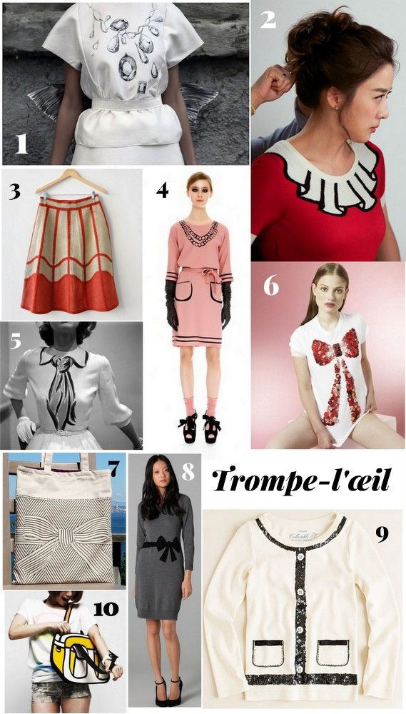D.I.Y. Inspiration: Trompe-l'œil Clothing | PopBetty