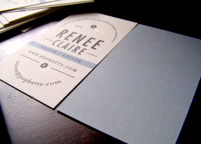 Minted Business Cards front and back
