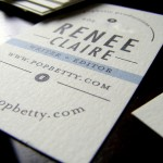 Minted.com Business Card, via PopBetty