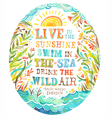 Live in the Sunshine, Swim in the Sea, Drink the Wild Air - Emerson