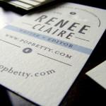 Minted.com Business Card, via PopBetty